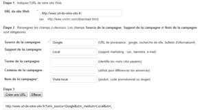 Outil de création d URL Google