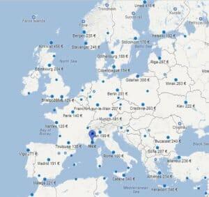 google flight francais geolocalise
