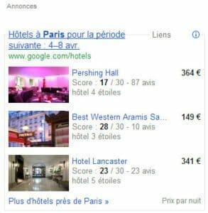 Google hotel finder comparateur hotel