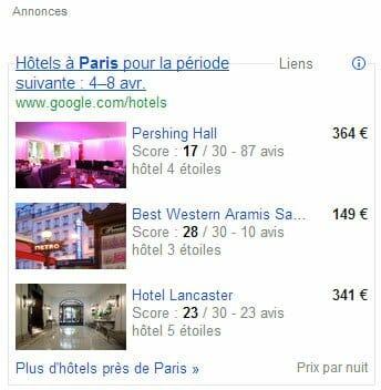 Google flights disponible en fran ais for Comparateur prix hotel paris