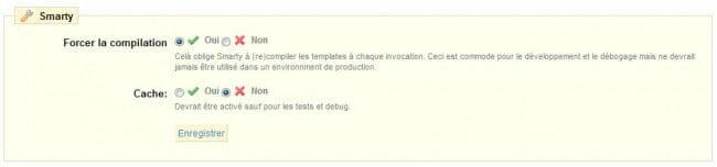 PrestaShop, comment désactiver le cache ?