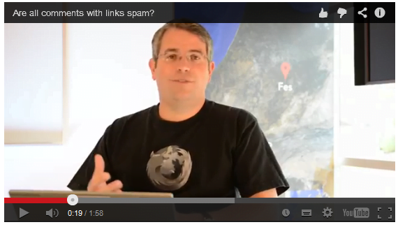 Matt Cutts et le spam de commentaires