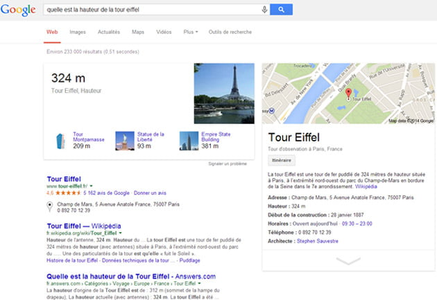 Google vous répond directement dans les SERPs