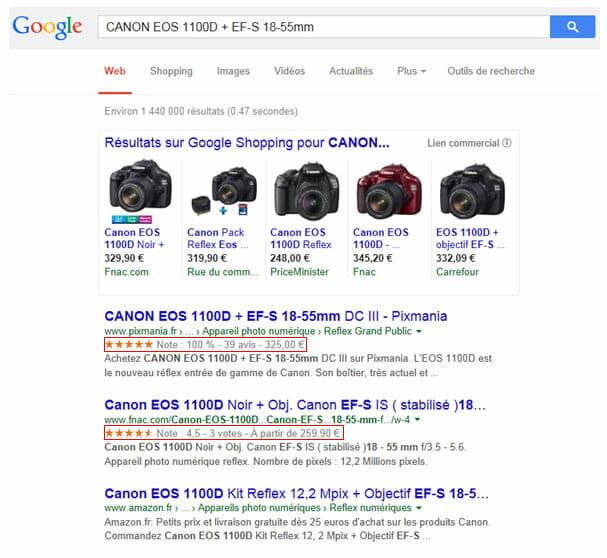 Google et les rich snippetq
