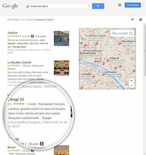 Référencement local Paris