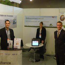 Septembre 2009 : Présence sur les premiers salons nationaux : E-Commerce Paris