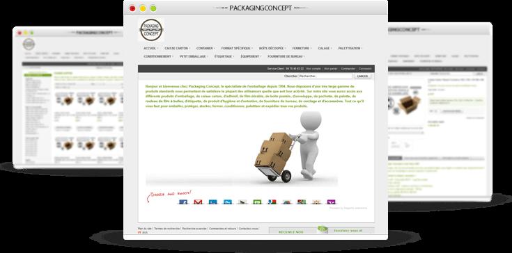 Référencement osCommerce Packaging Concept