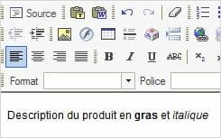 Référencement Store Factory HTML