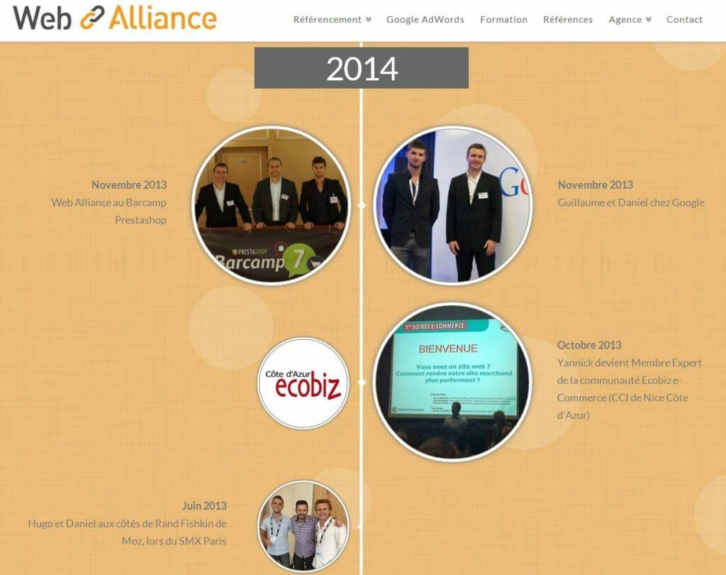 historique web alliance