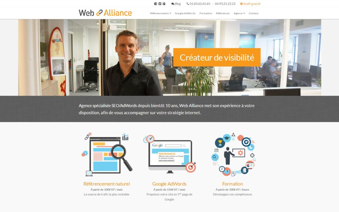 Le nouveau site de Web Alliance