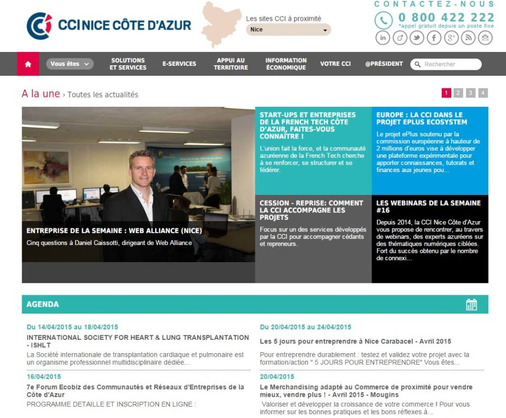 CCI Nice Cote Azur - Web Alliance