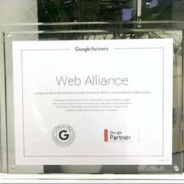 Novembre 2016 : Web Alliance est certifié Google Partners Premier