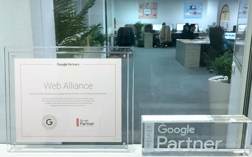 Web Alliance acquiert le statut Partenaire Google Premier