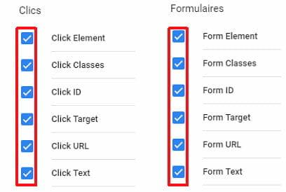 GTM clics et formulaires