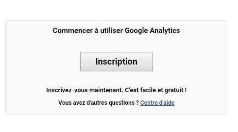 Google Analytics inscription