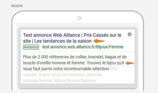 nouveaute annonce google adwords