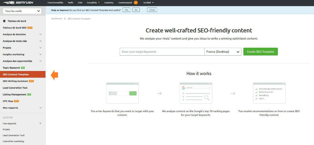 semrush seo content template