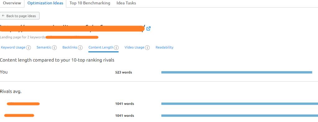 idees optimisation on page contenu