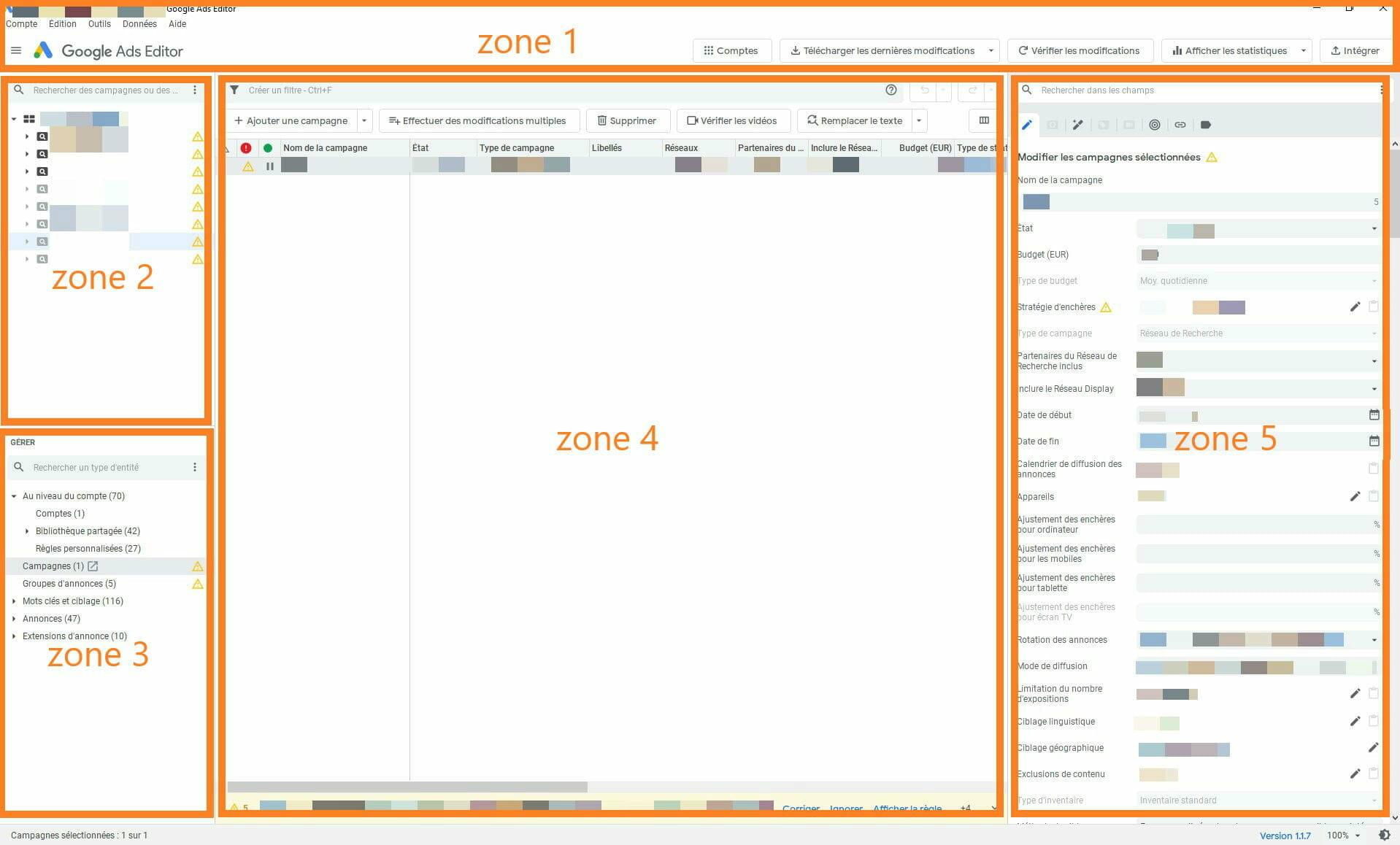 zones google ads editor