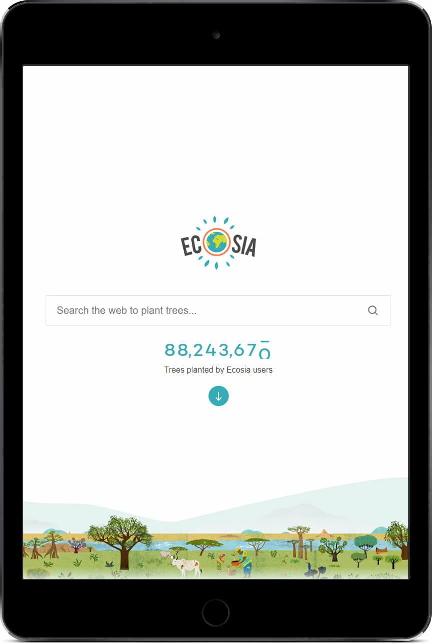 Résultats payants Ecosia